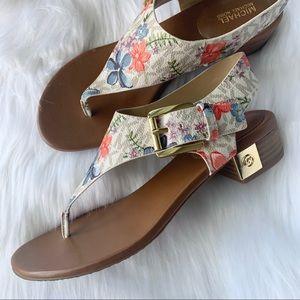 MICHAEL Michael Kors Ripley Floral Thong Sandal